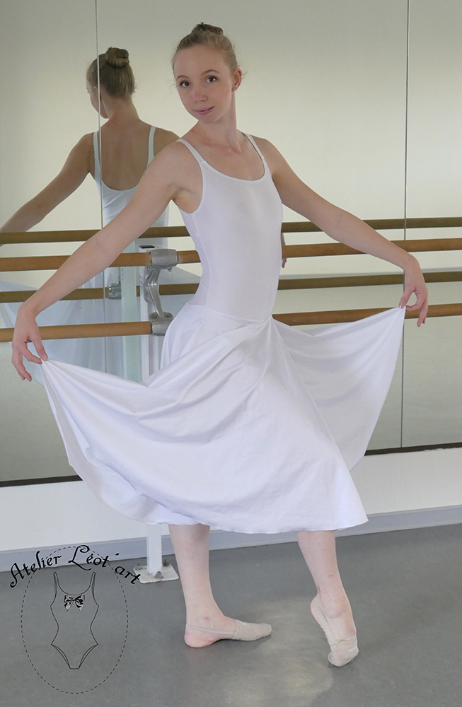 Robes lycra blanches